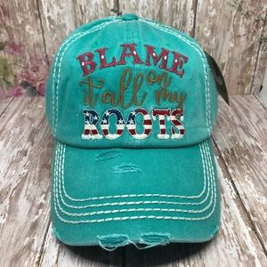 """""""Blame It All On My Roots"""" Washed Vintage Cap"""